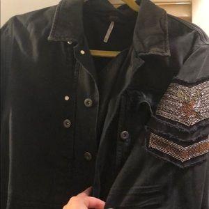 Oversized FP embellished military/utility jacket